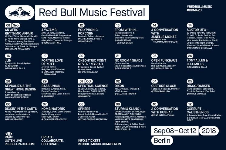 RBMF 2018 Lineup - Berlin