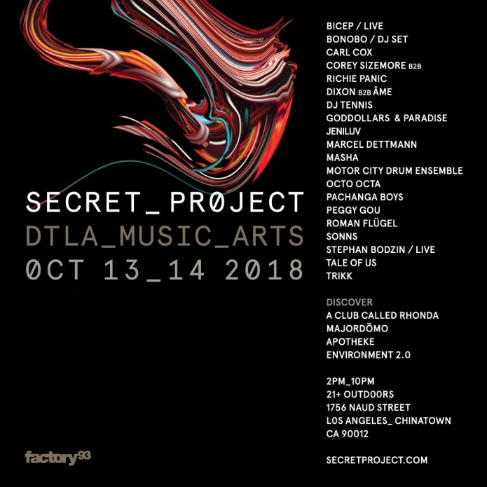Secret Project LA line-up