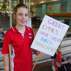 Local primary students make their views known
