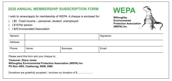WEPA Membership form 2020