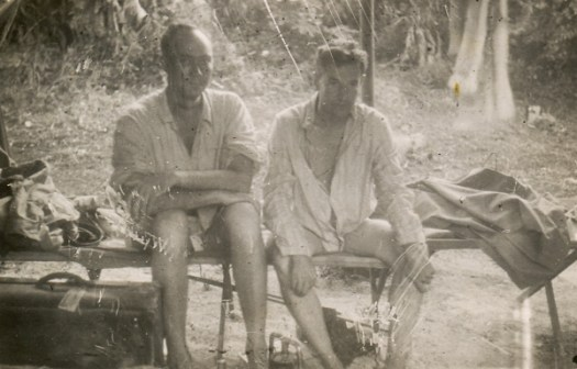 War Correspondents Jimmy Smyth on left, Cliff Eager on right in