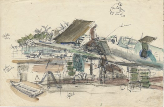 Kittyhawk maintenance, Morotai airfield