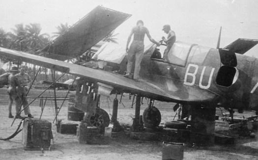 Kittyhawk BU-A of RAAF 80 Squadron being serviced by ground crew