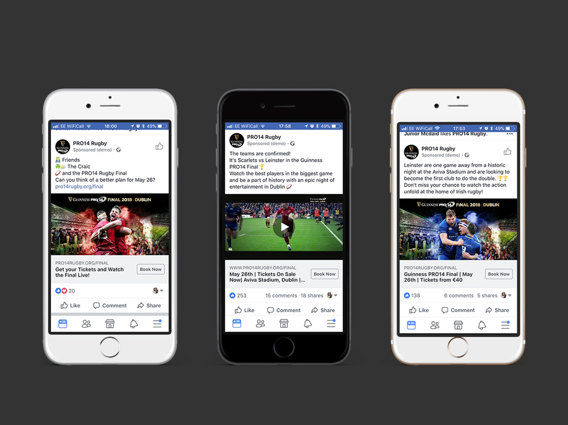 Guinness PRO14 Rugby Case Study mockup