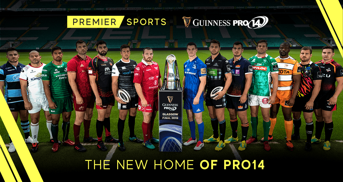 Premier Sports ad - the home of PRO14
