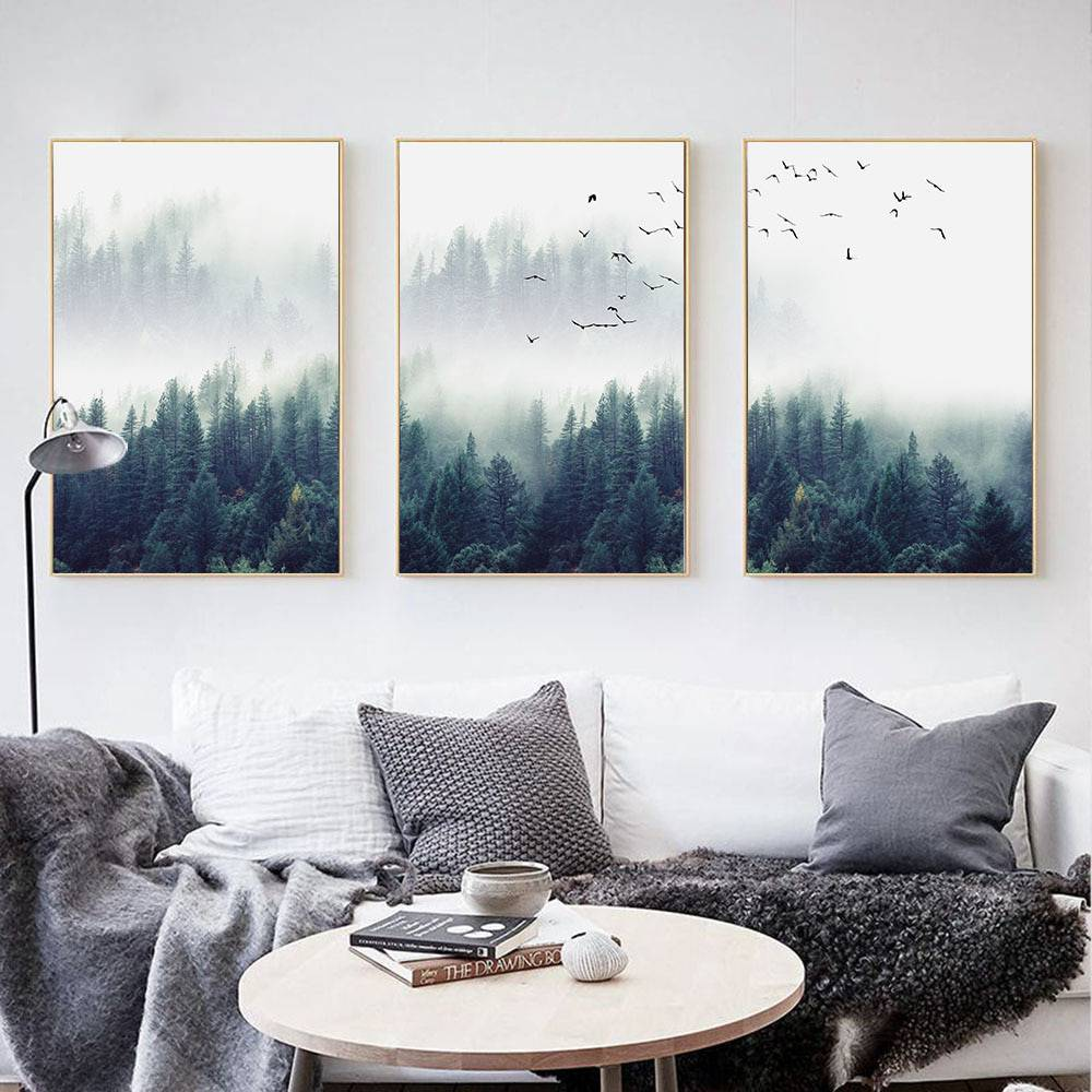Nordic Forest Lanscape Wall Art Canvas Poster Print Painting Decorative Picture Living Room Home With Free Shipping Worldwide Weposters Com