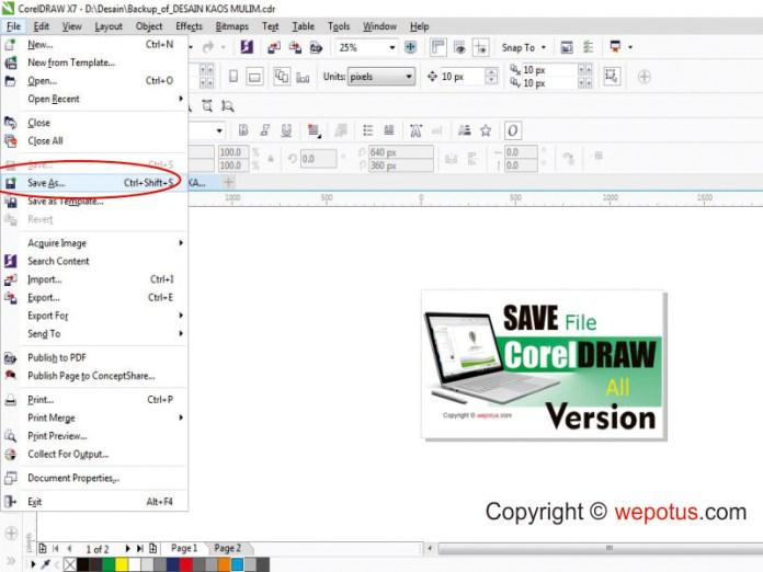 Cara Simpan File CDR Untuk Semua Versi
