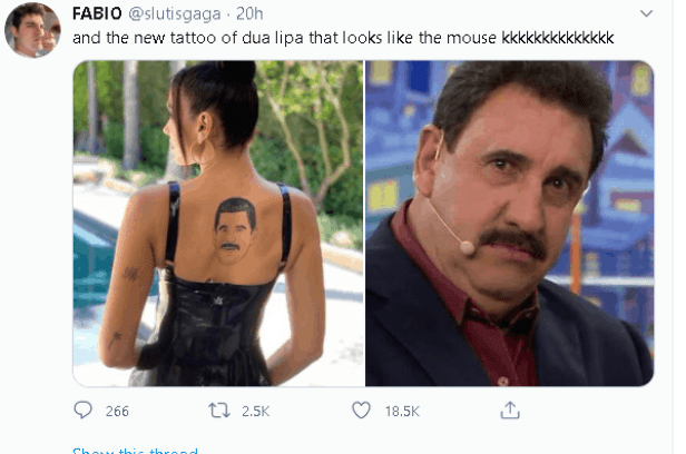 Did Dua Lipa tattoo