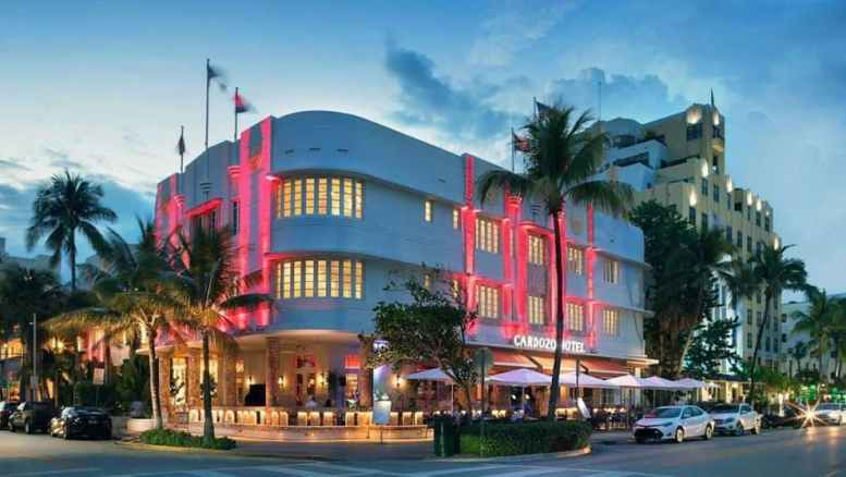 The famous Cardozo Hotel located on Ocean Drive