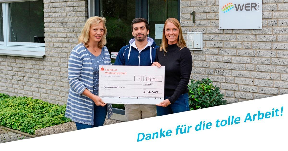 SPenden Tombola WER GmbH Herzenswünsche