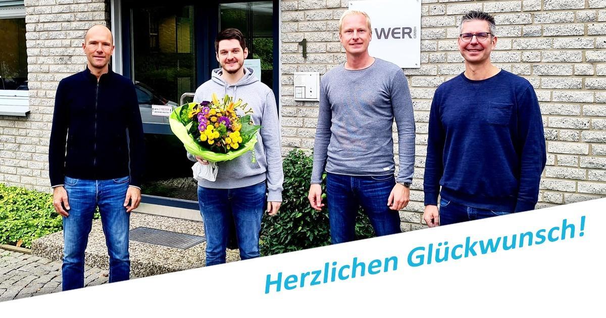 Jubilar Christopher Surmann WER GmbH