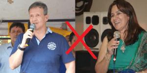 Aluísio e Juizá Leoneide, juíza titular da Comarca úje Zé Doca/MA