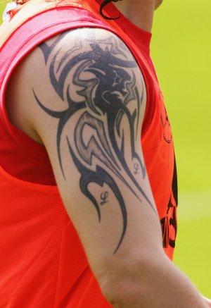 Stupid tattoo (not a footballer though):