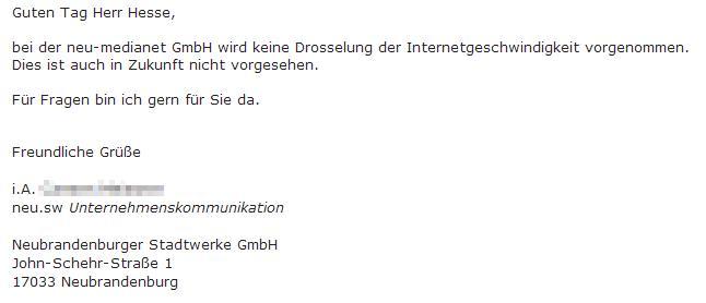 Neubrandenburger Stadtwerke GmbH Info