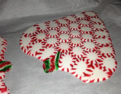 peppermint candy plate