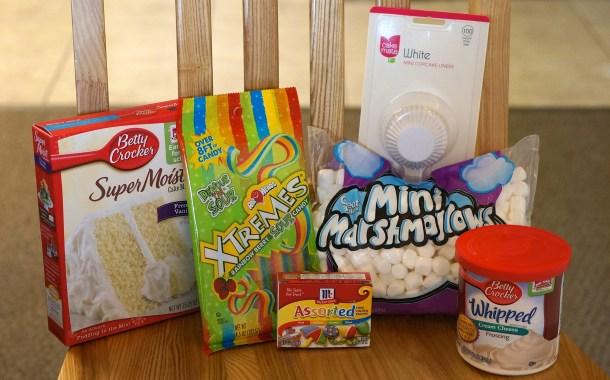 Rainbow Cupcake ingredients