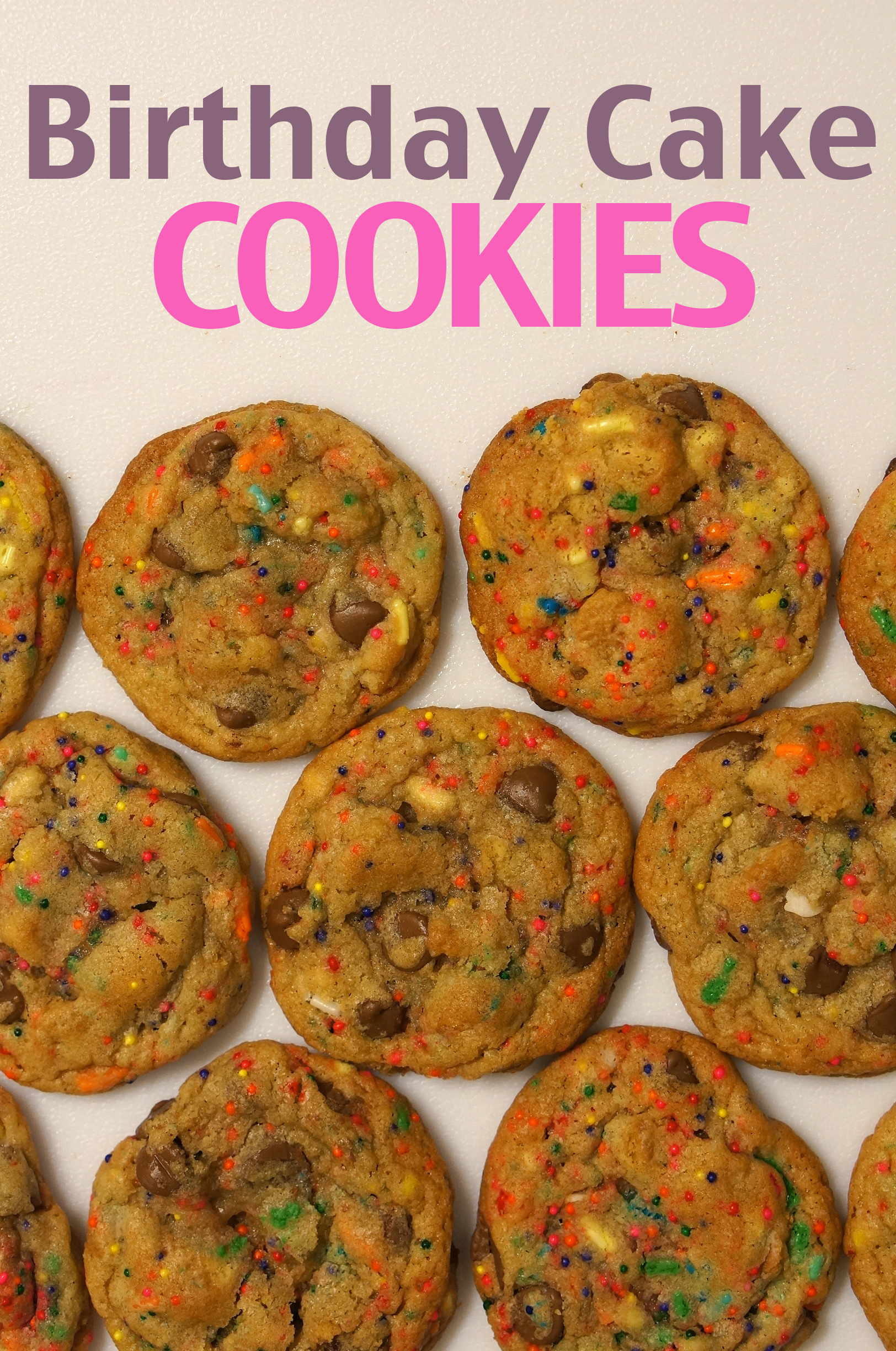 Birthday Cake Mix Cookies