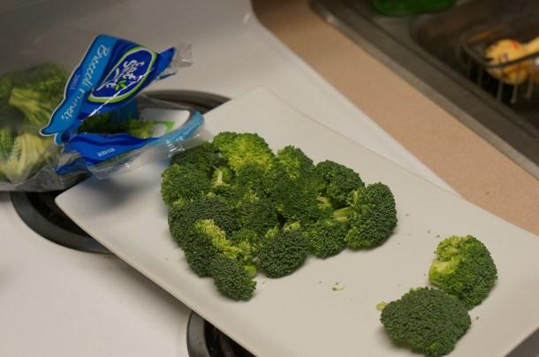 Christmas tree of broccoli