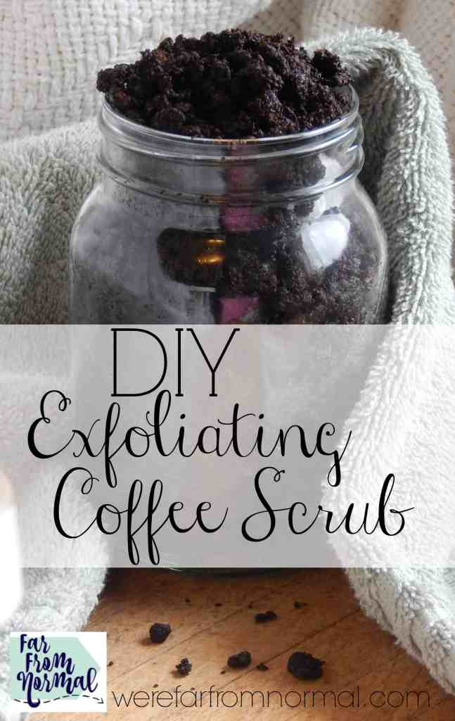 Whip together this awesome smelling coffee scrub with simple ingredients from your kitchen! It leaves your skin silky smooth and summer ready!