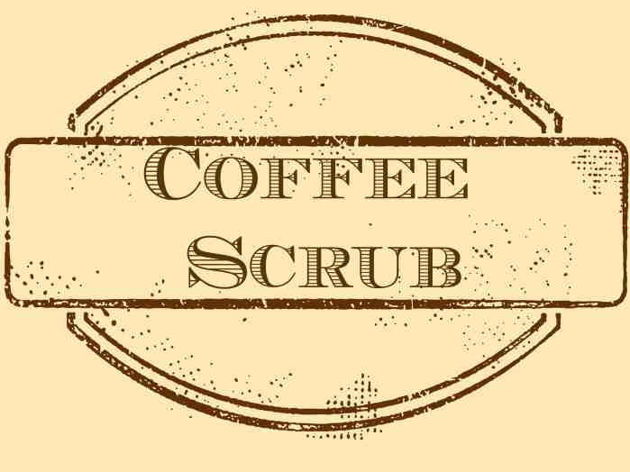 coffee scrub label