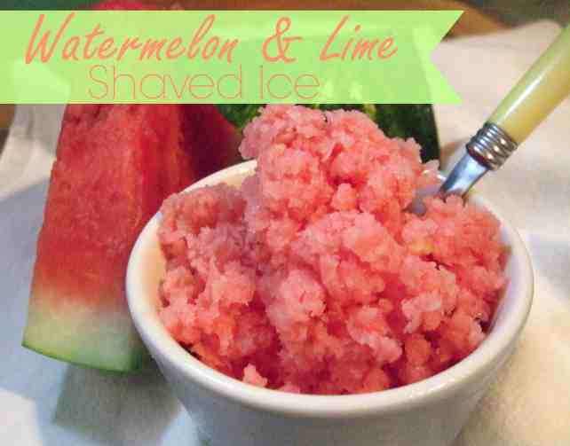 Watermelon & Lime Shaved Ice