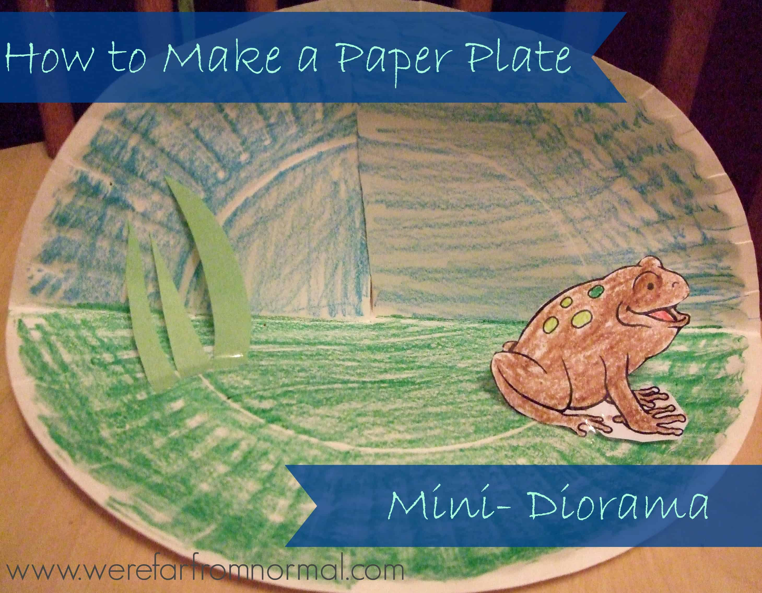 How to Make a Paper Plate Mini- Diorama (and a lesson on animal sanctuaries) | Far From Normal & How to Make a Paper Plate Mini- Diorama (and a lesson on animal ...