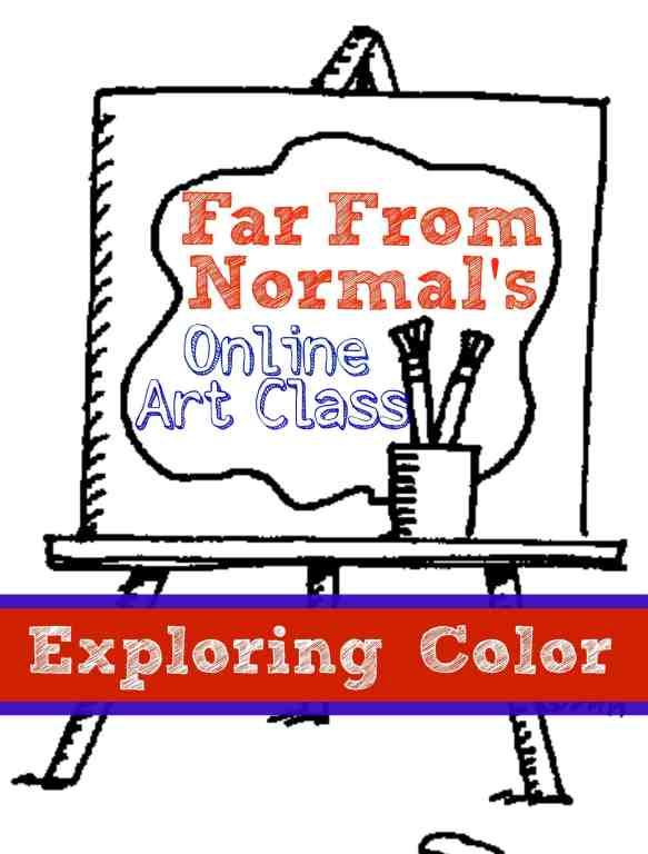online art class exploring color