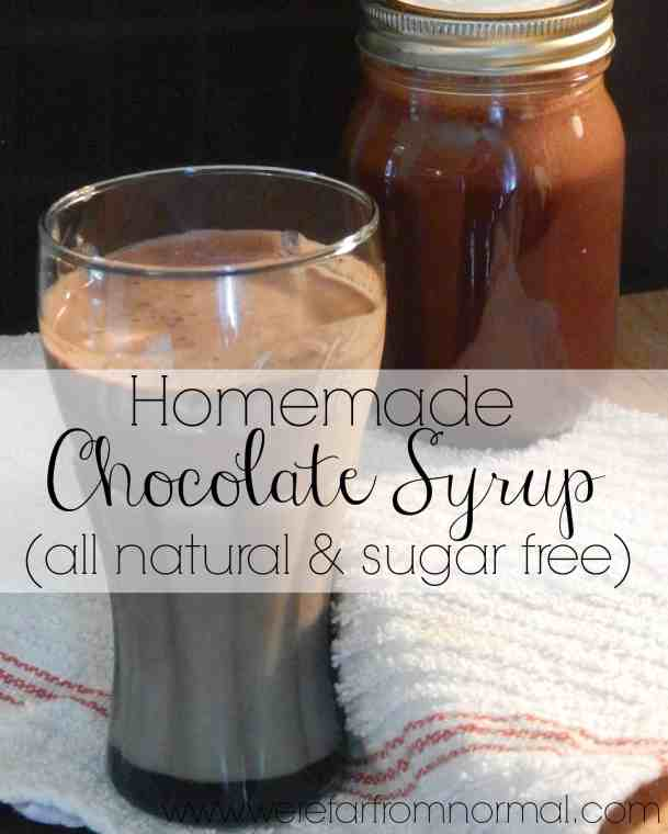 Homemade Chocolate Syrup - all natural and sugar free