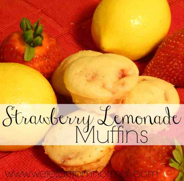 Strawberry Lemonade Muffins- all the taste of Summer in a delicious muffin!