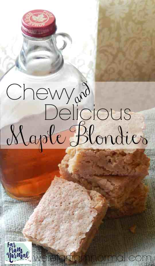 These just might be dessert perfection! They are such an amazing texture, chewy with just a little crunch on the top. Sweetened with maple syrup! Do yourself a favor and go make a batch now!