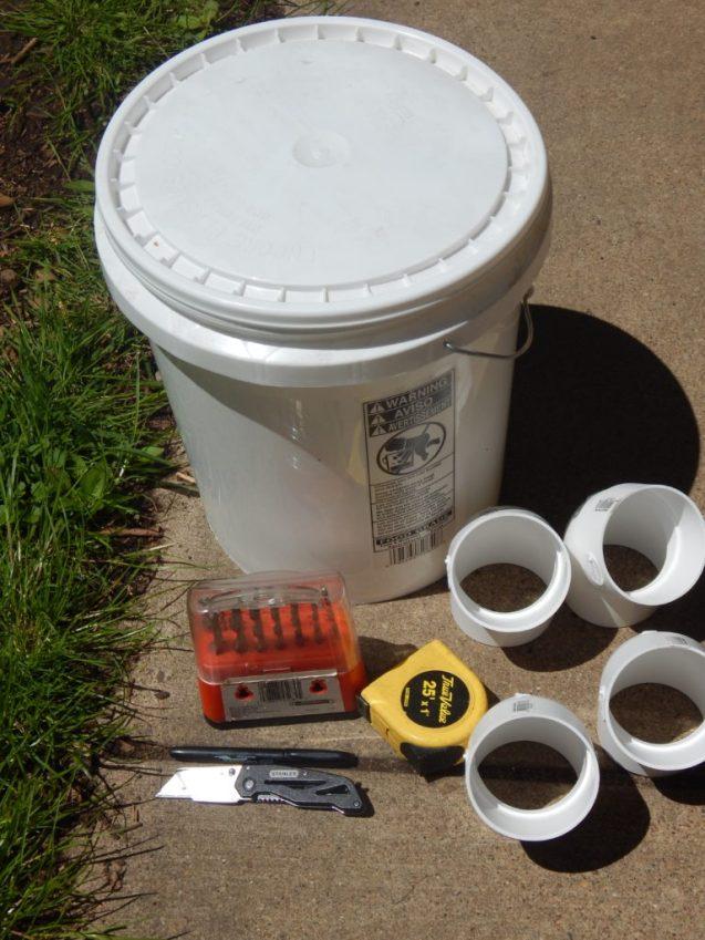 Chicken feeder 5 gallon bucket and pvc pipe