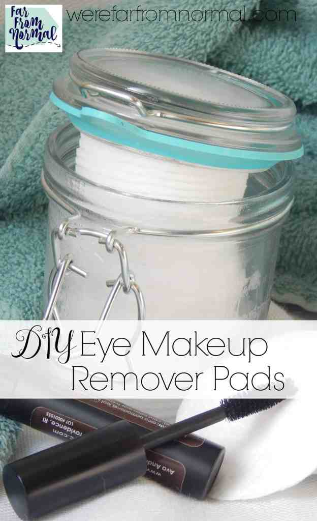 Looking for a simple natural eye makeup remover? Look no furthur! These are so simple, great for your skin and work great!