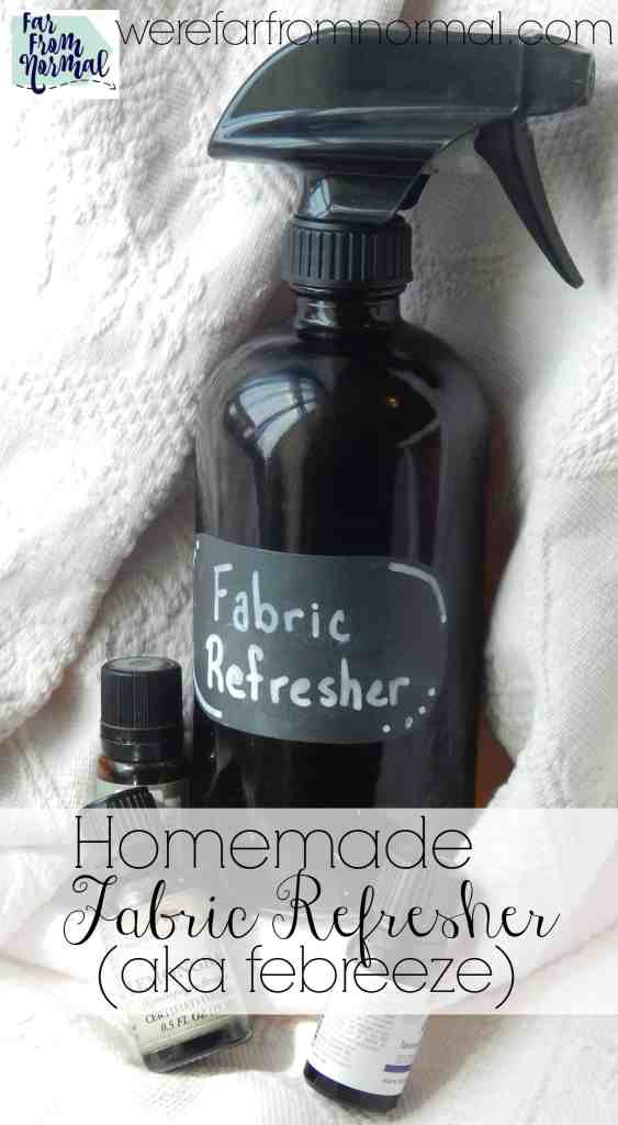 Homemade Fabric Refresher (aka Febreeze)