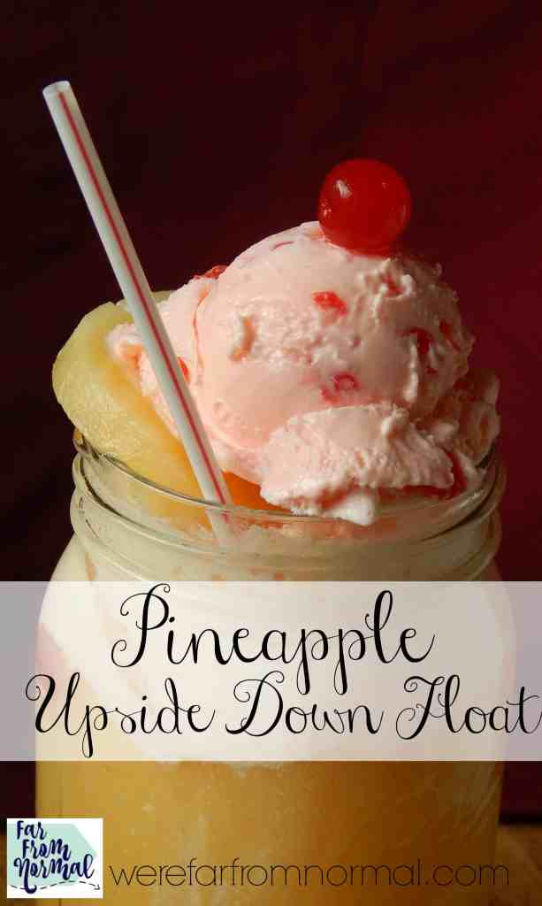 This isn't your average float! All the taste of a pineapple upside down cake in a refreshing ice cream float!