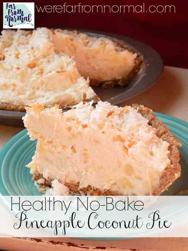This pie is amazing!! So delicious and rich but made with Greek yogurt & honey with a pecan crust! A perfect no-bake summer pie!