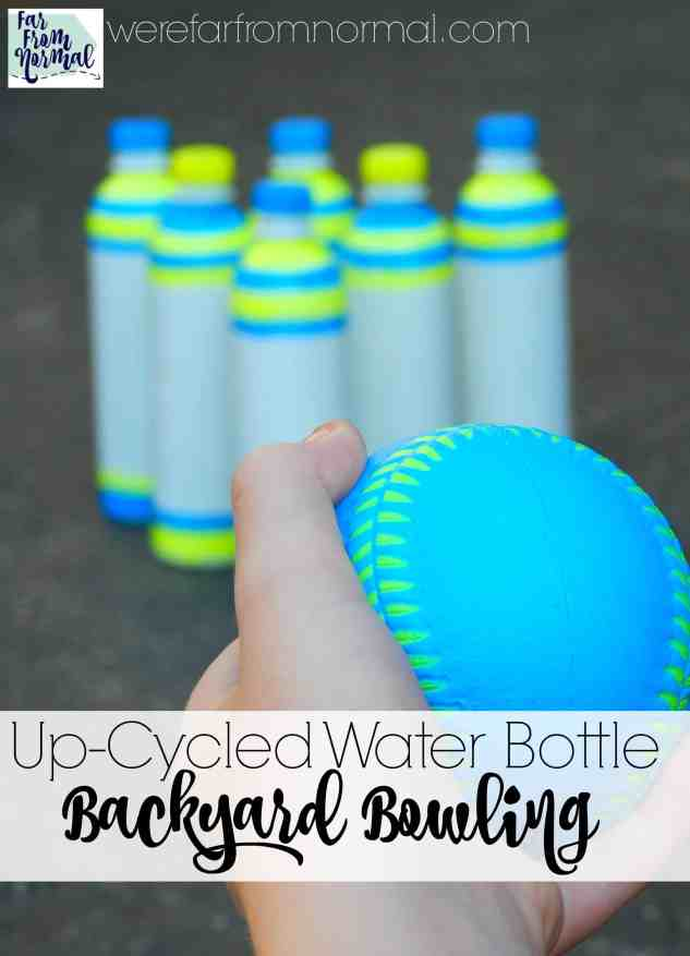 Have a ton of fun with this simple project! Dress up a few water bottles and in no time you'll be bowling in your own backyard!