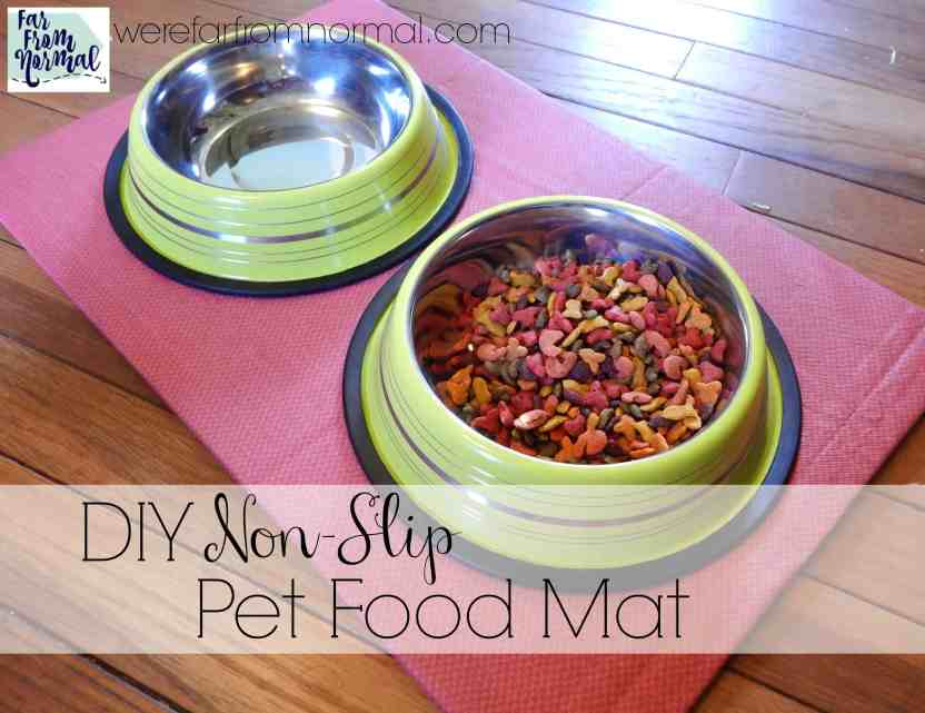 Keep your pet's feeding area neat and clean with this easy to make mat! Non-slip and easy to clean