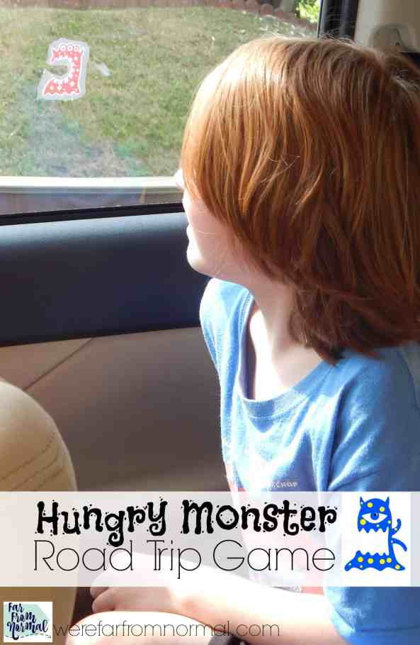 Make car trips super fun with this simple game! Keep kids busy eating things and keeping score! So much fun!