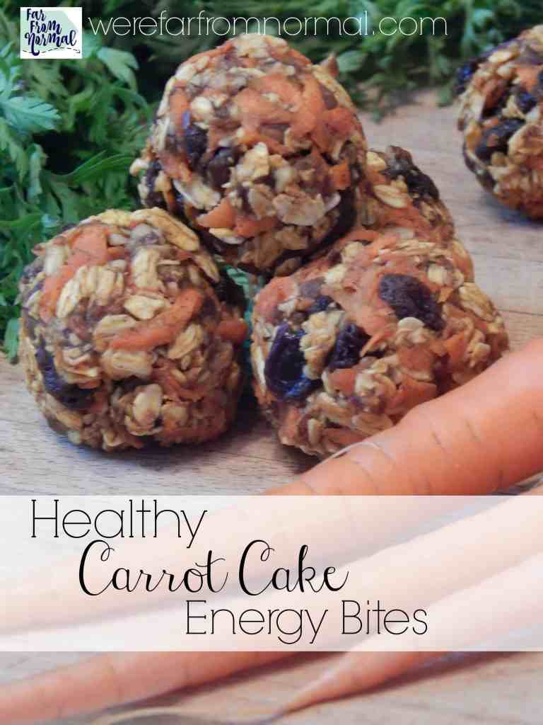 Healthy Carrot Cake Energy Bites