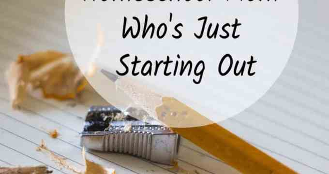 To the Homeschool Mom Who's Just Starting Out