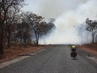 Onderweg zijn veel aangestoken bosbranden om kleine akkers te creëeren
