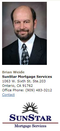 Brian Weide SunStar Mortgage Services