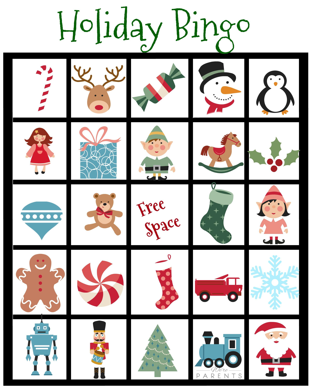 Holiday Bingo Card Printable For Kids