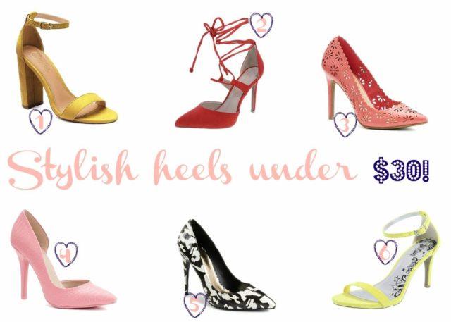 Stylish shoes under $30