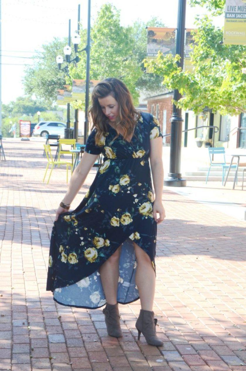 Favorite Fall Floral Midi Dress