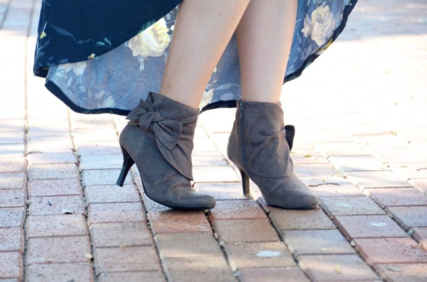 Fall accessories fall booties gray booties with bow
