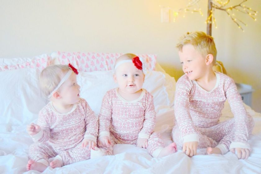 cade-georgia-and-geneveive-matching-christmas-pajamas-family-christmas-pictures