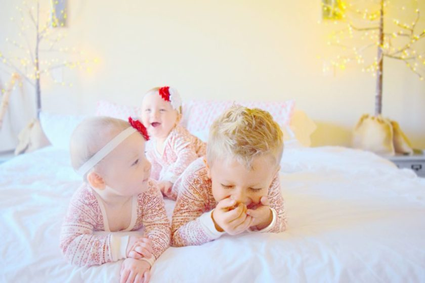 cade-georgia-and-geneveive-matching-christmas-pajamas-family-christmas-pictures