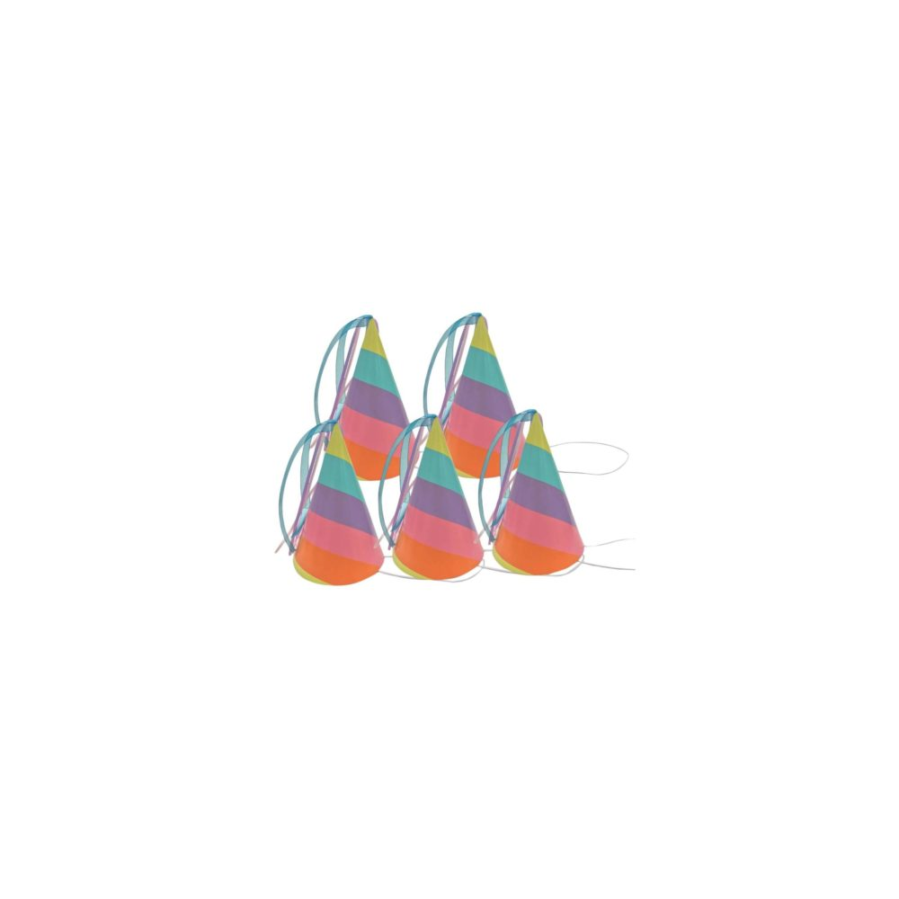 pastel rainbow party hats