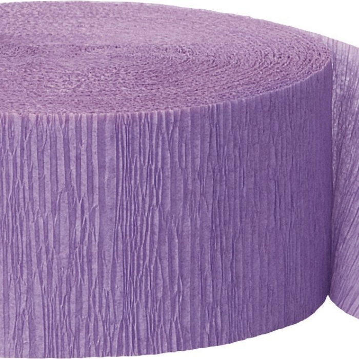 81ft Lavender Crepe Paper Streamers